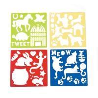 Quality Plastic Pet Stencils - Includes Dogs, Cats, Lizards, Rabits, Bird Cages, Turtle, Paw Print for sale