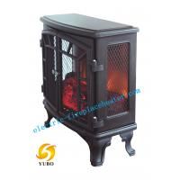 Cheap ABS Black Chimneyfree Media Electric Fireplace 3D Flame Electric Fireplaces wholesale