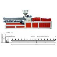 Cheap Plastic Twin Extruder Machine Conveyor Belt Pelletizing Without Water 220V / 380V / 480V wholesale
