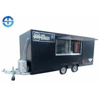 Cheap FRP 2.2m SS201 Double Layer Steel Plate Mobile Food Trailer wholesale