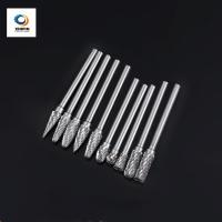 Cheap Double Flute Rotary File Color Coating Solid Carbide Burrs For High Speed Debarring Work Piece wholesale