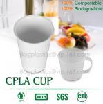 Cheap Blister molding biodegradable durable using coffe cup, cpla cup of blister molding, corn starch tea cup wholesale