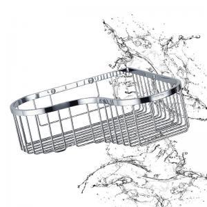Cheap Bathroom Accessory Corner Basket Shelf Stainless Steel Easy Installation wholesale