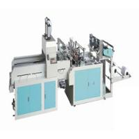 Cheap Fully automatic double line T-shirt type Plastic bag making machine wholesale