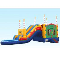 Cheap Birthday Cake Water Inflatable Bouncer Combo With Logo Printing wholesale