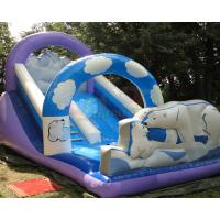 Cheap Polar Bear Inflatable Bouncy Castle With Slide Fully Digital Printing wholesale