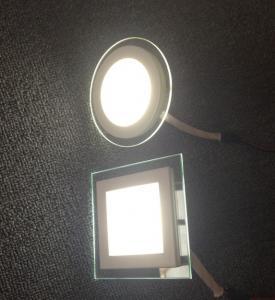 Cheap Led glass panel light/led glass panel/led glasses square and round wholesale