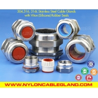 304, 316, 316L Polished Stainless Steel IP68 Cable Glands with Viton Fluoroelastomer Seals