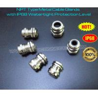 Cheap IP68 Metal Cable Glands with Integral NPT Taper Pipe Connecting Thread wholesale