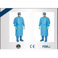 Cheap Liquid Repellent Disposable Isolation Gowns 35 - 60gsm Weight Customization wholesale