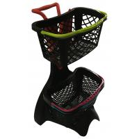 Cheap 580x480x980 Plastic Shopping Basket Trolley With 3 Inch TAPE Wheel wholesale
