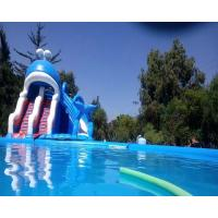 Quality Ocean Theme Inflatable Combo Bounce House Attraction Slide Pool Water Games for sale