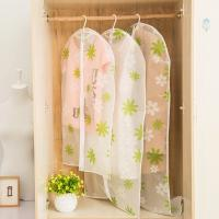Cheap Transparent closet Hanging Garment Bags flower Printed with Silver Trim Zip wholesale