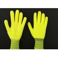 Cheap 13G Yellow Latex Coated Gloves High Extension Elastic Knitting Customized Size wholesale