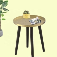 China 41cm Height Wood Leg Coffee Table , Convertible Round Coffee Side Table on sale