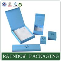 Cheap Custom Size Sky Blue Jewelly Case , Grazioso Cardboard Box for Jewelly Box wholesale