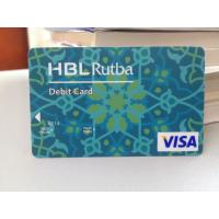 Cheap Plastic Debit Card / VISA Smart Card with Secured VISA Hologram Label wholesale
