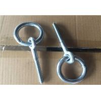 Cheap Zinc Plated Fasteners Forged Eye Bolts / Eye Bolt With Ring Wood Thread Lag Screw wholesale