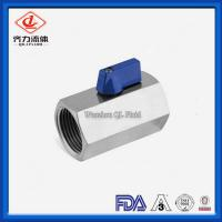 Cheap FF Sanitary Stainless Steel Valves   Mini Ball Valve Electropolish Available wholesale