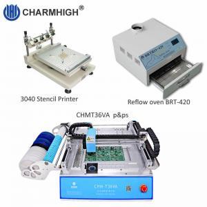 Cheap PCB Assembly line: Stencil printer 3040 , CHMT36VA smt machine , BRT-420 Reflow Oven wholesale