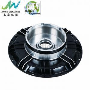 Cheap Black Powder Coated Machined Aluminum Parts , Electric Motorbike Hub Alu Die Casting Cover wholesale