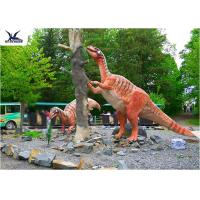 Cheap Amusement Park Decoration Realistic Dinosaur Statues Artificial Mother And Baby Models wholesale