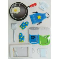 Buy cheap Ait Shaker Freezer Cute Sticker Sheets With Bean Printed Cooking Utensils from wholesalers