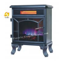 Quality High Efficiency Heating Desktop Electric Fireplace With Halogen Tube 1200W for sale