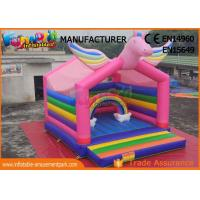 Cheap Mulit Color Commercial Bouncy Castles Inflatable Unicorn Bouncer Digital Printing wholesale