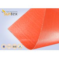Silicone Coated Bulk Fiberglass Cloth Roll Resistant High Temperature Up To 1000 C Degree