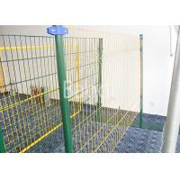 China Green Vinyl Coated Wire Mesh Fence Panels With Metal Post High Strength on sale
