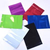 China Colorful Mylar Ziplock Bag Smell Proof Food Storage Metallic Foil Airtight Bags Plastic Candy Packaging Pouch Flat Heat on sale