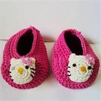 Cheap 100% wool Warm Hand crocheted baby shoes, knitted baby products for Autumn, Winter wholesale