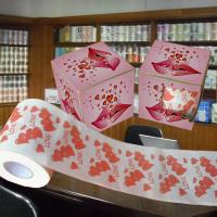 Cheap printed toilet paper coupons 2ply 3ply customized tissue paper china supplier wholesale