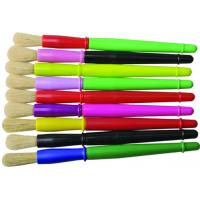 Cheap 9 Colors Plastic Handle Paint Brushes , Colorful Watercolor Paint Brush Set OEM Avaliable wholesale