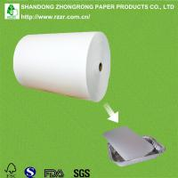 PE coated paper for disposable lunch container lids