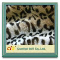 Leopard Plush Cat Toys / Garment Luxury Faux Fur Fabric , Artificial Fur Cloth Shrink-Resistant