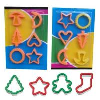 Cheap 6 pcs set Christmas Themed Cookie Cutters,Holiday Plastic Cookie Cutter wholesale