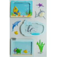 Buy cheap Window Removable Vintage Toy Stickers Die Cut Sea World Fishes Designs from wholesalers