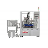 Cheap Automatic perfume liquid oil bottle filling and capping crimping collaring machine wholesale