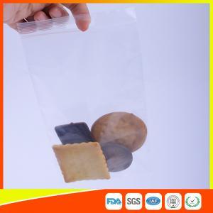 Household Food Grade Ziplock Snack Bags With Handle Hole / Hanger