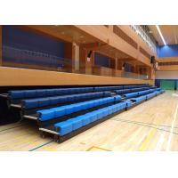 Cheap Power Control Retractable Grandstands Retractable Seating System Recessed Polymer Bench wholesale