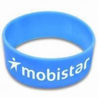 Cheap Wide-size Painted Silicone Bracelet, Suitable for Adults, Measures 202 x 25 x 2mm wholesale