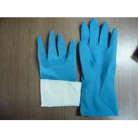 Cheap flocklined rubber household latex gloves for sale