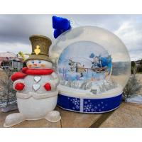 Cheap Party Events Inflatable Christmas Decorations Air Snow Globe For Advertising wholesale