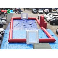 China 20*8m Red PVC Tarpaulin Inflatable Football Field for Outdoor on sale