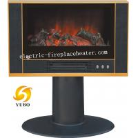 Cheap Black TV Shaped Floor Standing Electric Fireplace Log Effect Electric Stove 900W / 1800W wholesale