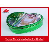 China Slender Capsules Packaging Heart Shaped Gift Box Metal Tinplate Material YT1043 on sale