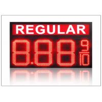 Cheap IP68 LED Gas Station Sign / 4 digits number display with 110° Viewing angle , steel shell wholesale