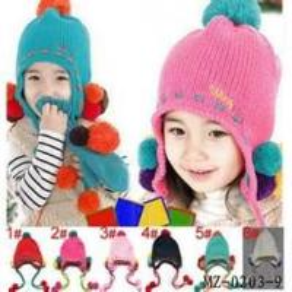 Cheap Customizable beauty handmade crochet baby hat blue hats knit children products wholesale